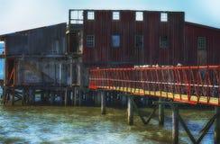 An Old Abandoned Net Loft Stock Image