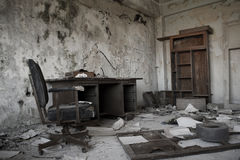 Old abandoned office. View of an old abandoned office interior Royalty Free Stock Images