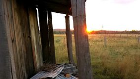 Abandoned outback farming shed in Queensland. Old abandoned outback farming shed in Queensland stock video