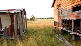 Abandoned outback farming shed in Queensland. Old abandoned outback farming shed in Queensland stock footage