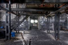 Old and abandoned paint factory Royalty Free Stock Images