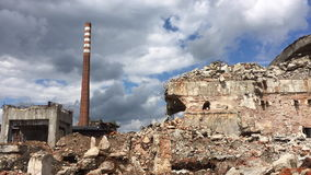 Old abandoned Paper mill in Kalety - Poland. stock video