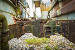 Old and abandoned passenger train. Train cemetery Thailand  Old and abandoned passenger train Royalty Free Stock Photo