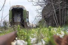 Old and abandoned passenger train Stock Image