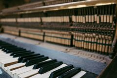 Old abandoned piano royalty free stock image