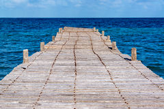 Old Abandoned Pier in Mexico Royalty Free Stock Image