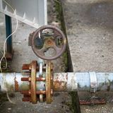 The old and abandoned pipeline royalty free stock image
