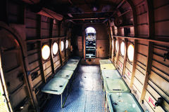 Old abandoned plane from within Stock Photo