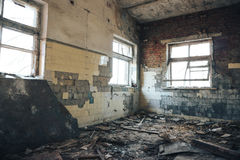 Old abandoned production building, interior inside Royalty Free Stock Image