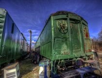 Old Abandoned Rail Cars Royalty Free Stock Photography