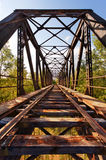 Old Abandoned Railroad Bridge. In Valladolid, Spain. Diminishing Perspective royalty free stock image