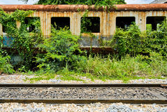 Old abandoned railroad car Stock Photos