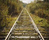 Old abandoned railroad. Stock Photo