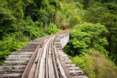 Abandoned Train Tracks in Colombian Jungle royalty free stock photography