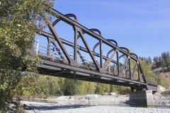 Old, abandoned railway bridge Stock Images