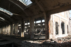 Old abandoned railway plant Stock Photography