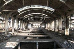 Old abandoned railway plant Stock Photo