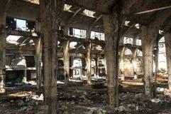 Old abandoned railway plant inside Stock Images