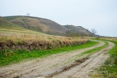 An old abandoned road in Serbia Stock Photography
