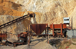 Rock Quarry Royalty Free Stock Photography