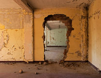 Old abandoned room of a building Royalty Free Stock Image
