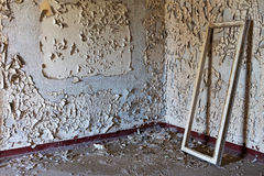 Old abandoned room of the building and window frame Royalty Free Stock Images