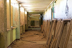 Old and abandoned room of  building and window frames Royalty Free Stock Photos