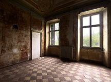 Old abandoned room Stock Images