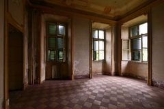 Old abandoned room Stock Photos