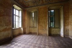 Old abandoned room Royalty Free Stock Images