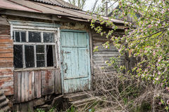 Old abandoned rotting house in the village Royalty Free Stock Photos