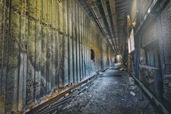 Old abandoned ruin factory damage building Royalty Free Stock Photo