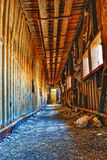 Old abandoned ruin factory damage building inside Royalty Free Stock Images