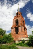 Old abandoned ruined bell tower Trinity monastery, Yelets, Russi Royalty Free Stock Photos