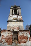 The old abandoned ruined church. In the village Royalty Free Stock Photo