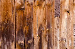 Old abandoned rural house walls made of boards Stock Photography