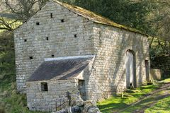 Free Old Abandoned Rural Limestone Barn. Royalty Free Stock Photo - 143816355