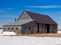Old abandoned rusted barn Royalty Free Stock Photos