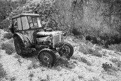 Old abandoned rusted tractor, Greece Royalty Free Stock Image