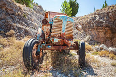 Old Abandoned Rusted Tractor Stands Royalty Free Stock Images