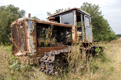 Old abandoned rusted tractor Royalty Free Stock Images