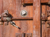 Old abandoned safe. Rusted old safe in a Southwest Ghost Town Royalty Free Stock Photo