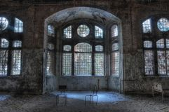 Old abandoned sanatorium in Beelitz Royalty Free Stock Photo