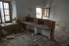 Old abandoned school Otero de sariegos Zamora. Indoor Royalty Free Stock Photos