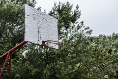 Old abandoned school sports court or schoolyard for different ac Royalty Free Stock Photography