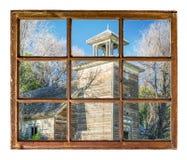 Old abandoned schoolhouse in rural Nebraska Royalty Free Stock Images