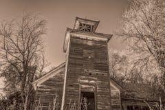 Old abandoned schoolhouse in rural Nebraska Royalty Free Stock Photo