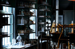 Old abandoned science laboratory Royalty Free Stock Photo