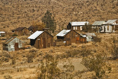 Old Abandoned Shacks. At Randsberg, California - a semi-ghost town royalty free stock image