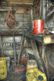 Old abandoned shed interior Stock Photos